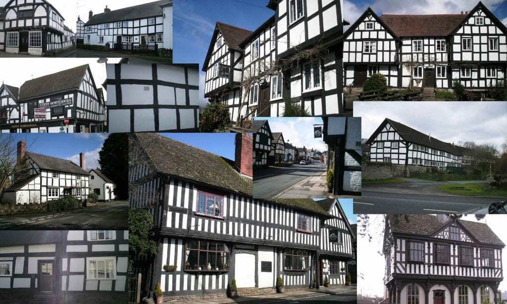 Images of buildings on the Black and White Trail