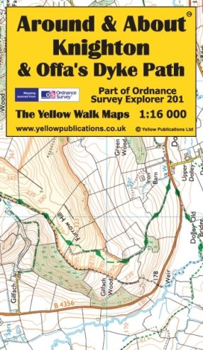 Map of Knighton and Offa's Dyke Path